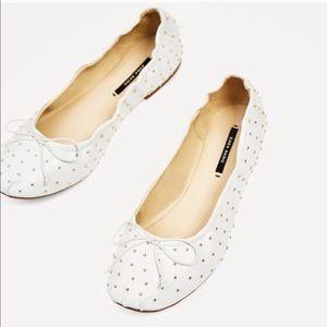 Zara Ballerina Flats Size 38 Euro = 8 American